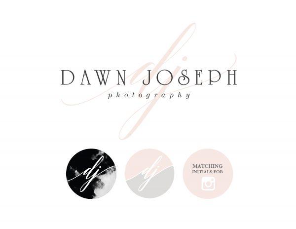 custom smokey logo for wedding photographer and instagram