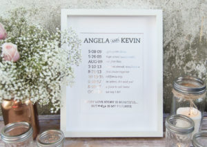Wedding Foil Print Timeline in Silver