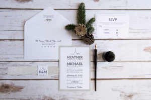 custom wedding invitation new york skyline