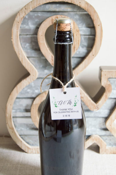 WINE BOTTLE FAVOR TAG