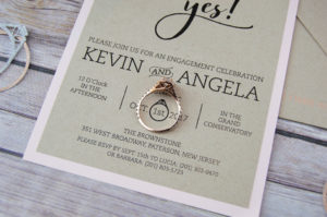 Custom Ring detail she said yes engagement party invitation