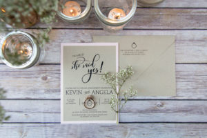 Rustic and pink she said yes engagement party invitation