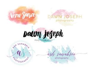 watercolor logos