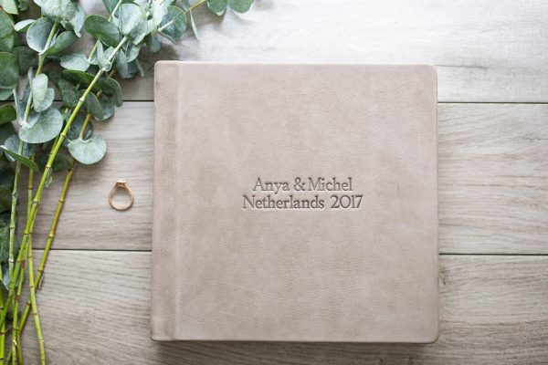 Wedding Album Debossed Leather example