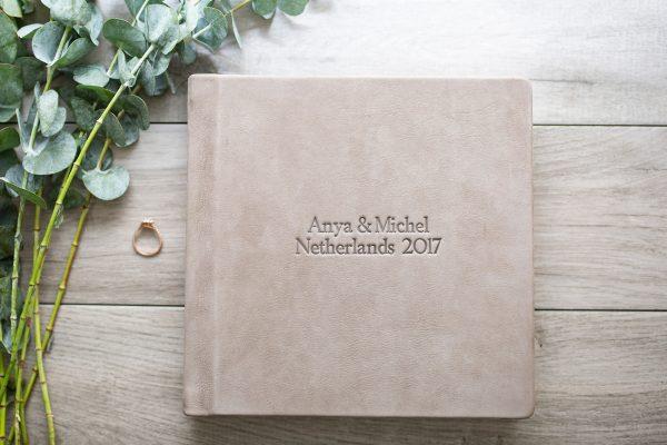 Wedding Album Debossed Leather example