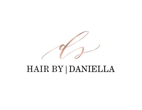 hair stylist rosegold logo