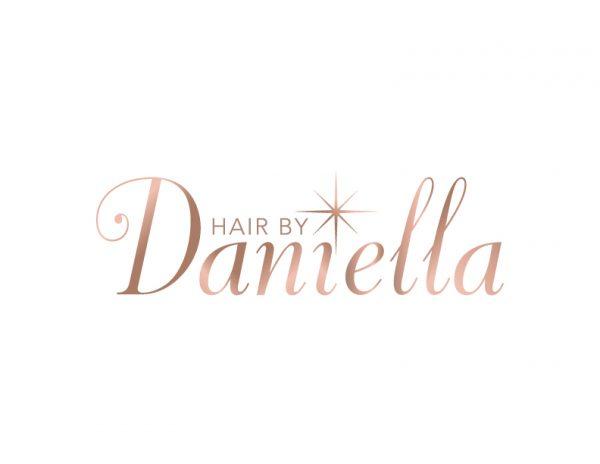 Rosegold hair stylist logo