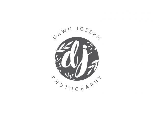 foliage paint stroke script logo