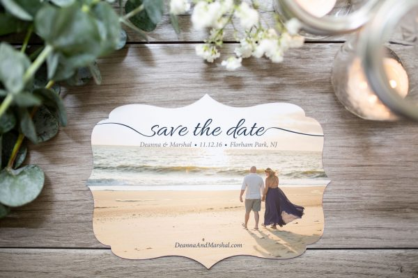 die-cut boarder save the date