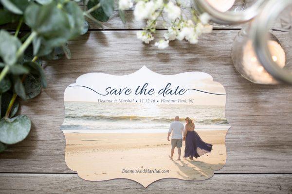 die-cut boarder save the date