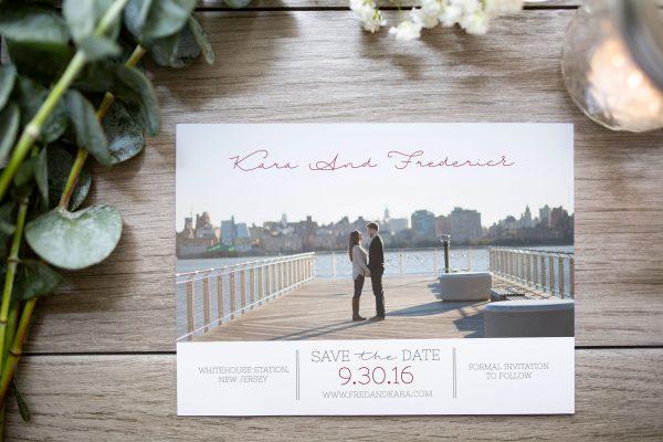 custom photo save the date new York couple