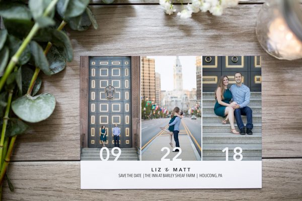 modern photo save the date large date