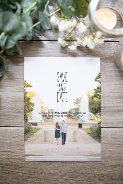 trendy photo save the date