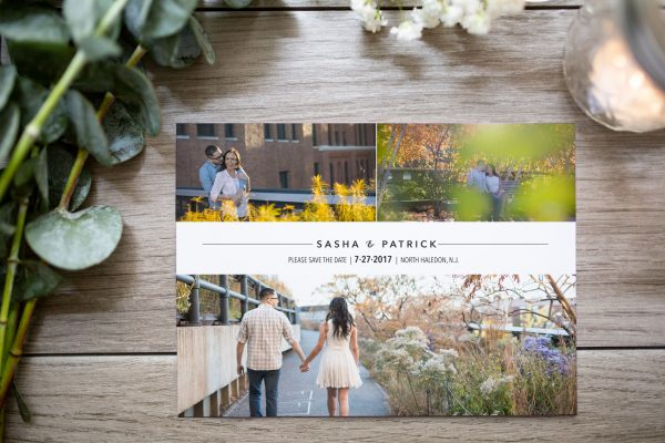 modern grid photo save the date