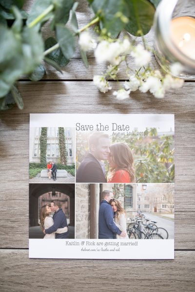 custom grid photo save the date