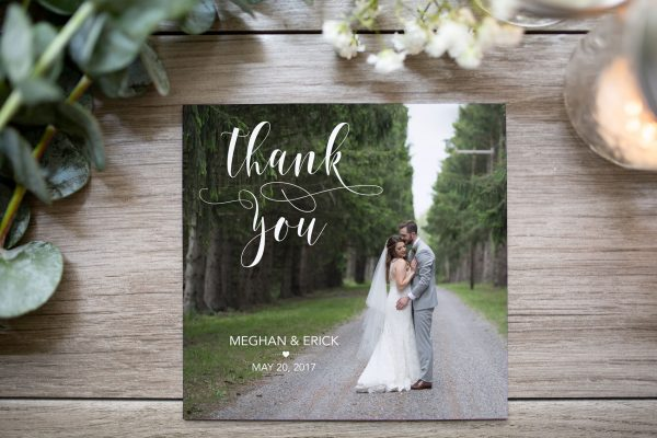 custom square thank you card