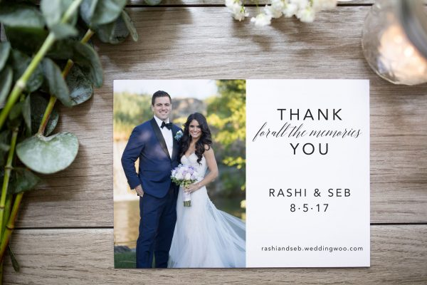 custom thank you card white space